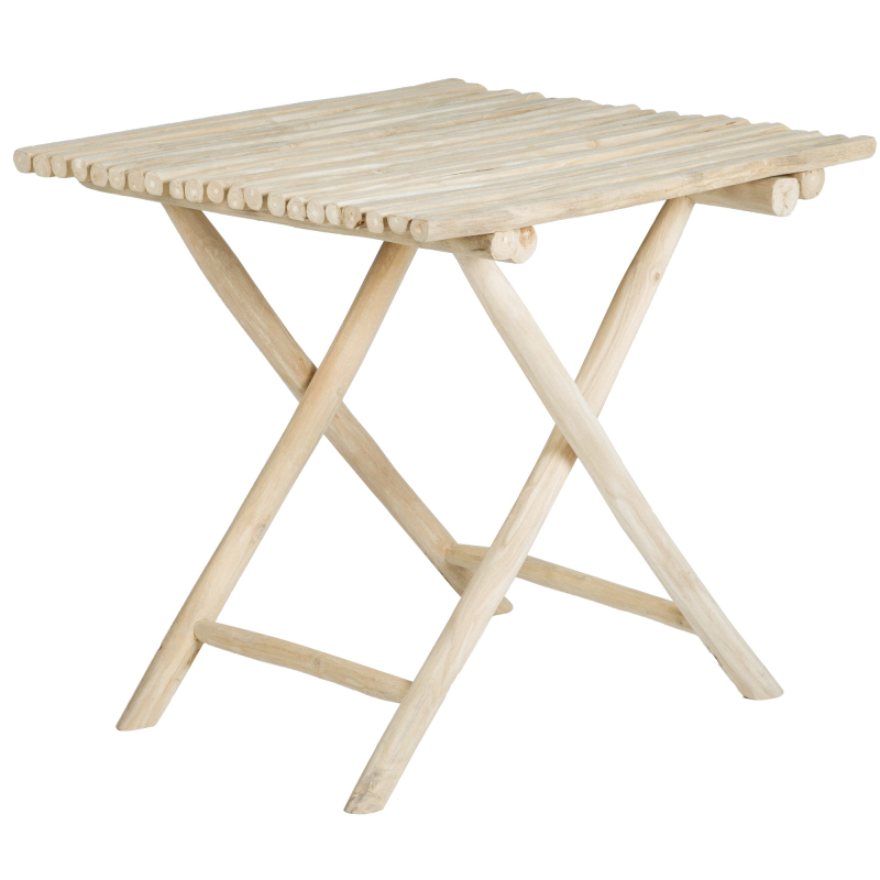 Teak folding bar table natural finish