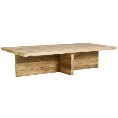 Wooden coffee table - recycled teak