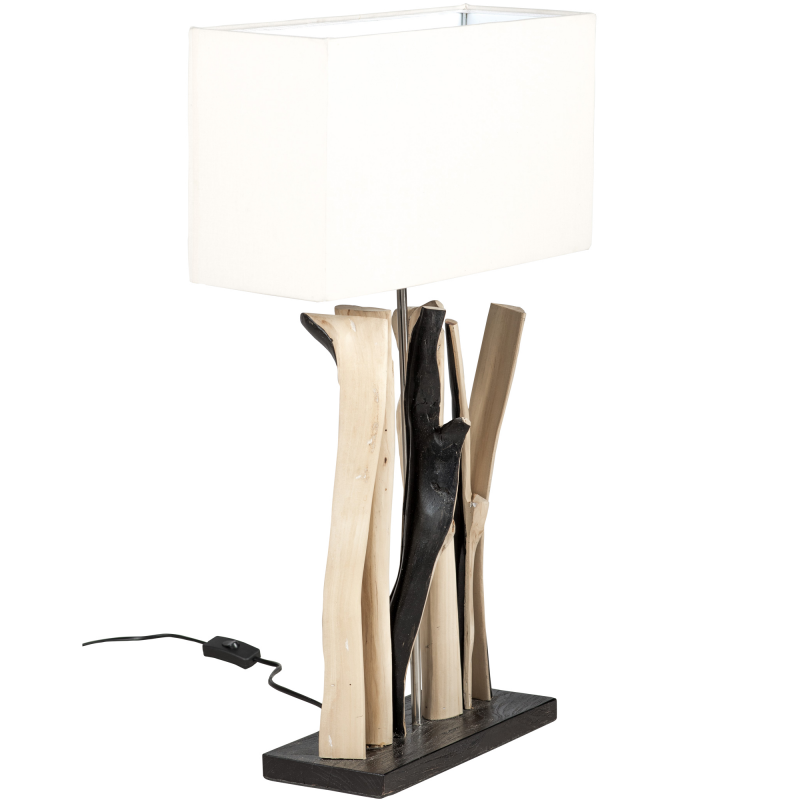 Wooden table lamp - Teak branches
