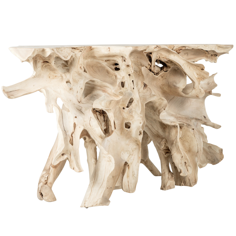 Wooden Console - Natural Bleaching Root