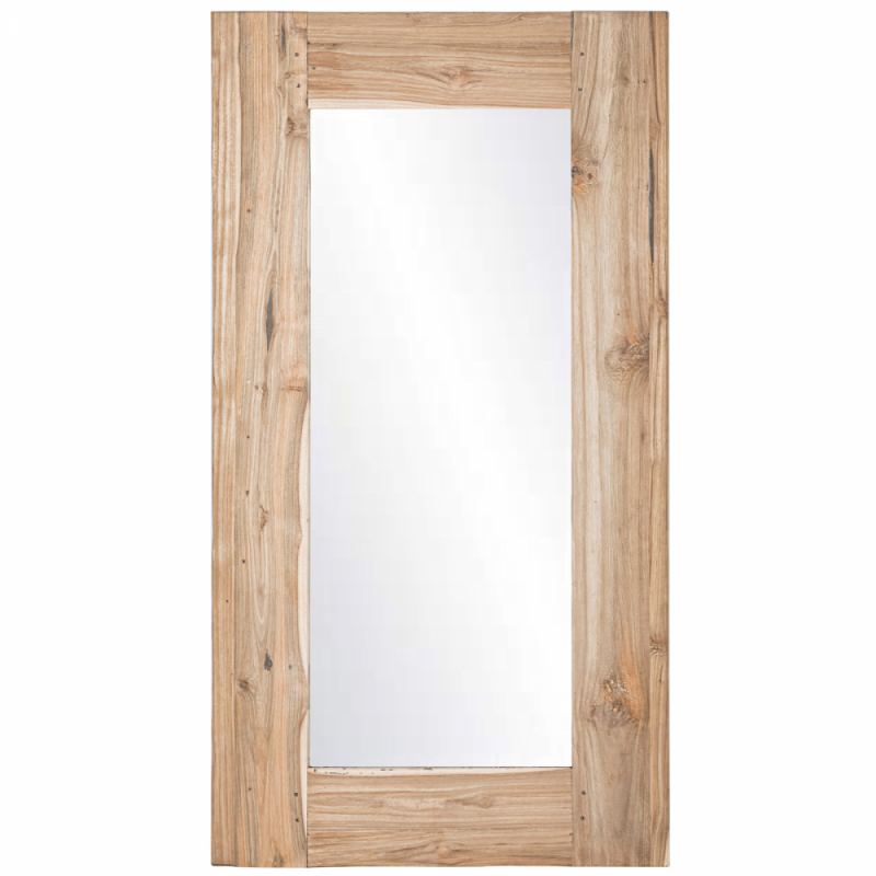 Rectangular teakwood mirror