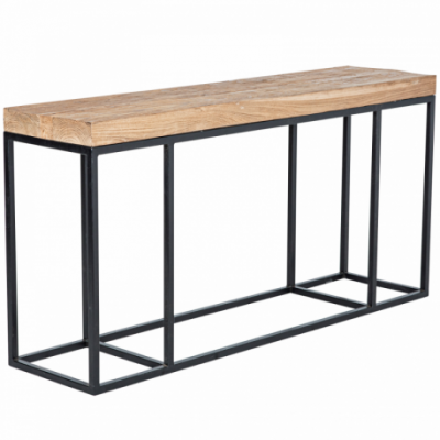 Metal console without drawers