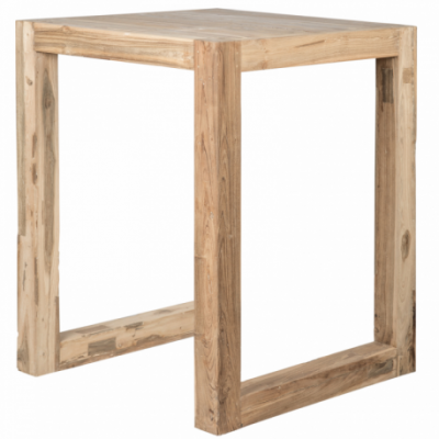 Wooden high bar table - Square