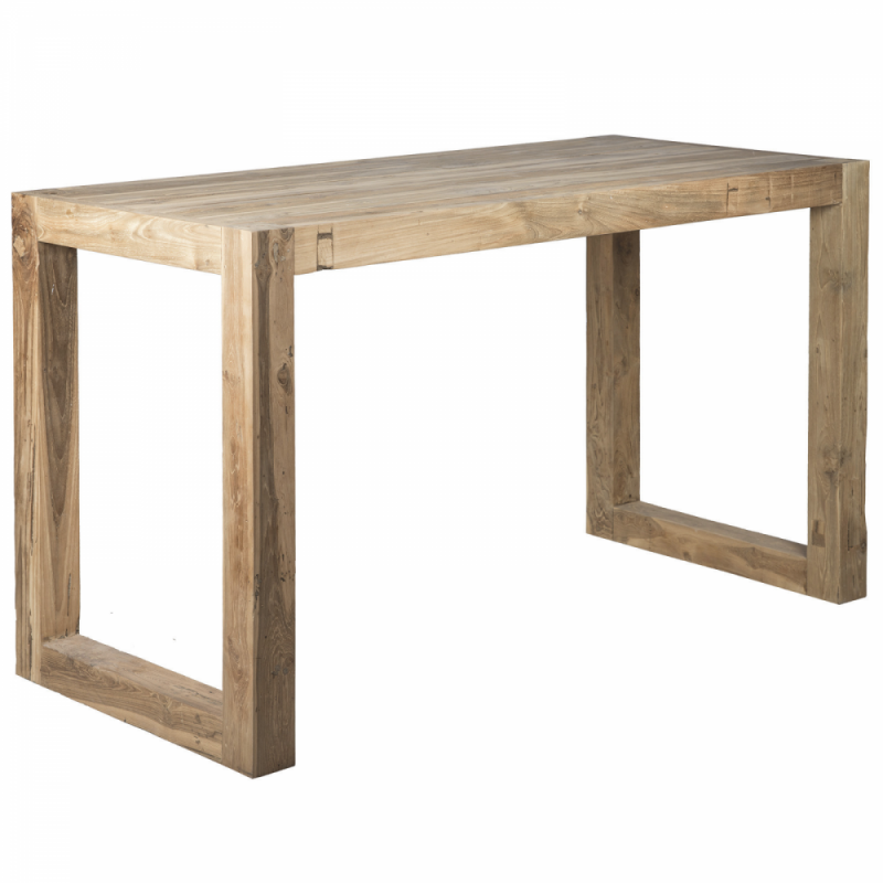 Wooden high bar table - Rectangular