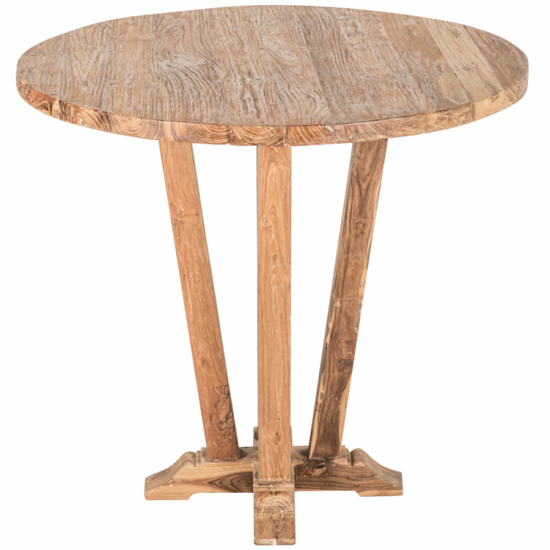 Wooden high bar table - Round