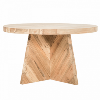 Recycled Teak table Recycled teak / Hitam Packing single face