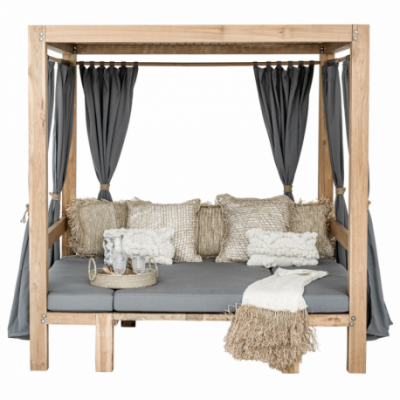 Balinese bed convertible to bench with table