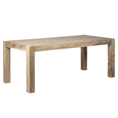 Wooden dining table - rectangular