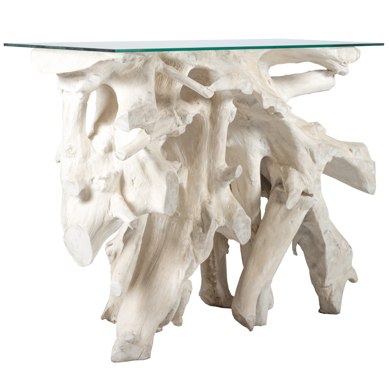 Wooden Console Root - Bleaching