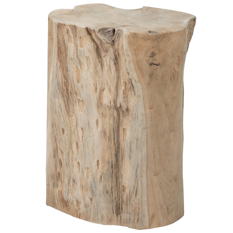 Low stool - round wooden side table