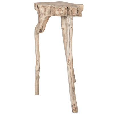 Teak wood stand/table aux - Natural